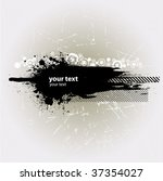 grunge banner with an inky... | Shutterstock .eps vector #37354027