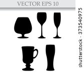 glass set or collection | Shutterstock .eps vector #373540975
