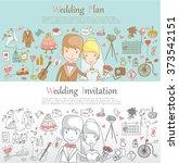 doodle line design of web... | Shutterstock .eps vector #373542151
