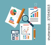 financial accounting concept.... | Shutterstock .eps vector #373543015