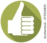 thumbs up sign flat icon   Shutterstock .eps vector #373543855