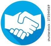 handshake symbol flat icon | Shutterstock .eps vector #373544569