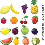 cartoon fruits  | Shutterstock .eps vector #373545355