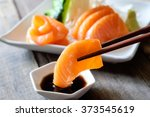 sashimi  salmon  japanese food... | Shutterstock . vector #373545619