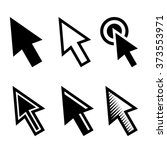 arrow cursors symbol icons set. ... | Shutterstock .eps vector #373553971