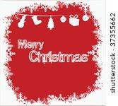 merry christmas | Shutterstock .eps vector #37355662