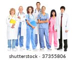smiling medical people with... | Shutterstock . vector #37355806