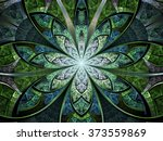 Green Stained Glass Fractal...