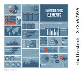 modern report template with big ... | Shutterstock .eps vector #373562989