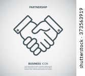 partnership icon. handshake... | Shutterstock .eps vector #373563919