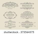vintage vector banners labels... | Shutterstock .eps vector #373564375
