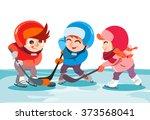 illustration of cute cartoon... | Shutterstock .eps vector #373568041