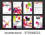 set of brochure  poster design...   Shutterstock .eps vector #373568221