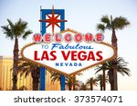 the world famous welcome to las ... | Shutterstock . vector #373574071