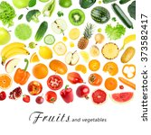 fresh color fruits and... | Shutterstock . vector #373582417