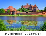 the castle of the teutonic... | Shutterstock . vector #373584769