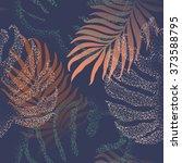 beautiful seamless tropical... | Shutterstock .eps vector #373588795