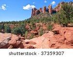 scenic red stone landscape of... | Shutterstock . vector #37359307