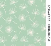 seamless doodle dandelion... | Shutterstock .eps vector #373594609