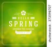 spring vector typographic... | Shutterstock .eps vector #373598707