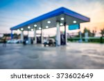 blur image of twilight gas... | Shutterstock . vector #373602649