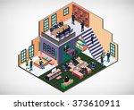 illustration of info graphic... | Shutterstock .eps vector #373610911