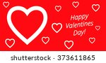 valentine's day background with ... | Shutterstock . vector #373611865