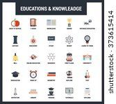 education and knowledge icon... | Shutterstock .eps vector #373615414
