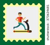 running man icon   Shutterstock .eps vector #373624681