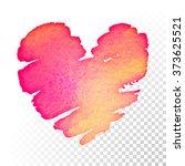 watercolor heart background... | Shutterstock .eps vector #373625521
