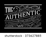 antique border vintage western... | Shutterstock .eps vector #373627885