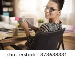 few text messages while working ... | Shutterstock . vector #373638331
