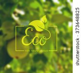 eco product logo. template with ... | Shutterstock .eps vector #373648825