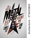 retro style metal fest poster... | Shutterstock .eps vector #373653865