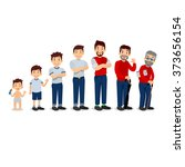 generations man. people... | Shutterstock .eps vector #373656154
