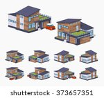 contemporary american house. 3d ...