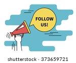 follow us banner for social... | Shutterstock .eps vector #373659721
