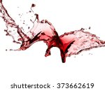 red wine splash  close up | Shutterstock . vector #373662619