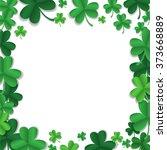 vector green shamrock frame. st....   Shutterstock .eps vector #373668889