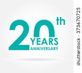 20 years anniversary icon.... | Shutterstock .eps vector #373670725