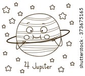 cute cartoon jupiter for... | Shutterstock .eps vector #373675165