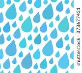 water drops  rain seamless... | Shutterstock .eps vector #373677421