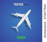 vector icons aircraft | Shutterstock .eps vector #373677964