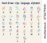Hand Drawn Sign Language...