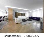 luxury home living room   Shutterstock . vector #373680277