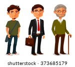 cartoon characters showing age... | Shutterstock .eps vector #373685179