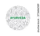 ayurveda vector illustration... | Shutterstock .eps vector #373686589