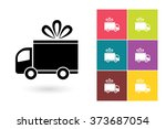 set of delivery icon with...