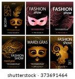 big vector bundle of black... | Shutterstock .eps vector #373691464