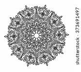ornamental round pattern with... | Shutterstock .eps vector #373691497